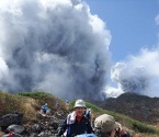 Hiker captures Japan volcano eruption on video