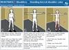 Standing lateral shoulder raise.