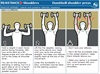 Dumbbell shoulder press.