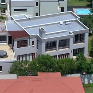 An aerial view of the luxury Silver Woods Estate home owned by Oscar Pistorius. (AP)