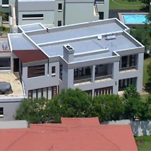 An aerial view of the luxury Silver Woods Estate home in which Oscar Pistorius shot dead Reeva Steenkamp. (AP)