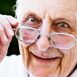old man with spectacles