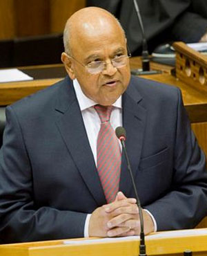 Finance Minister Pravin Gordhan in parliament. (Picture: AFP)