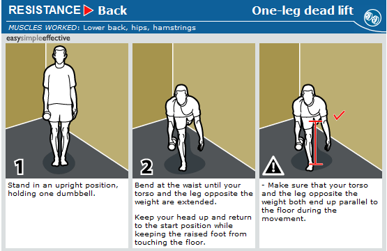 one leg dead lift