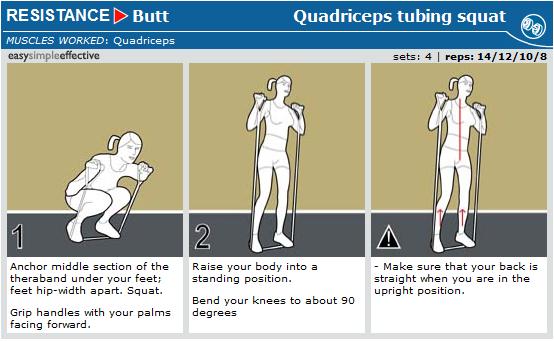 quadriceps tubing squats