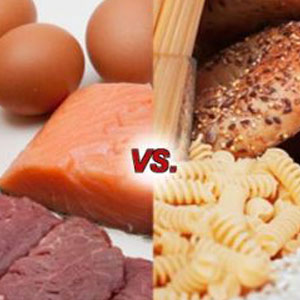 Protein vs. carbs