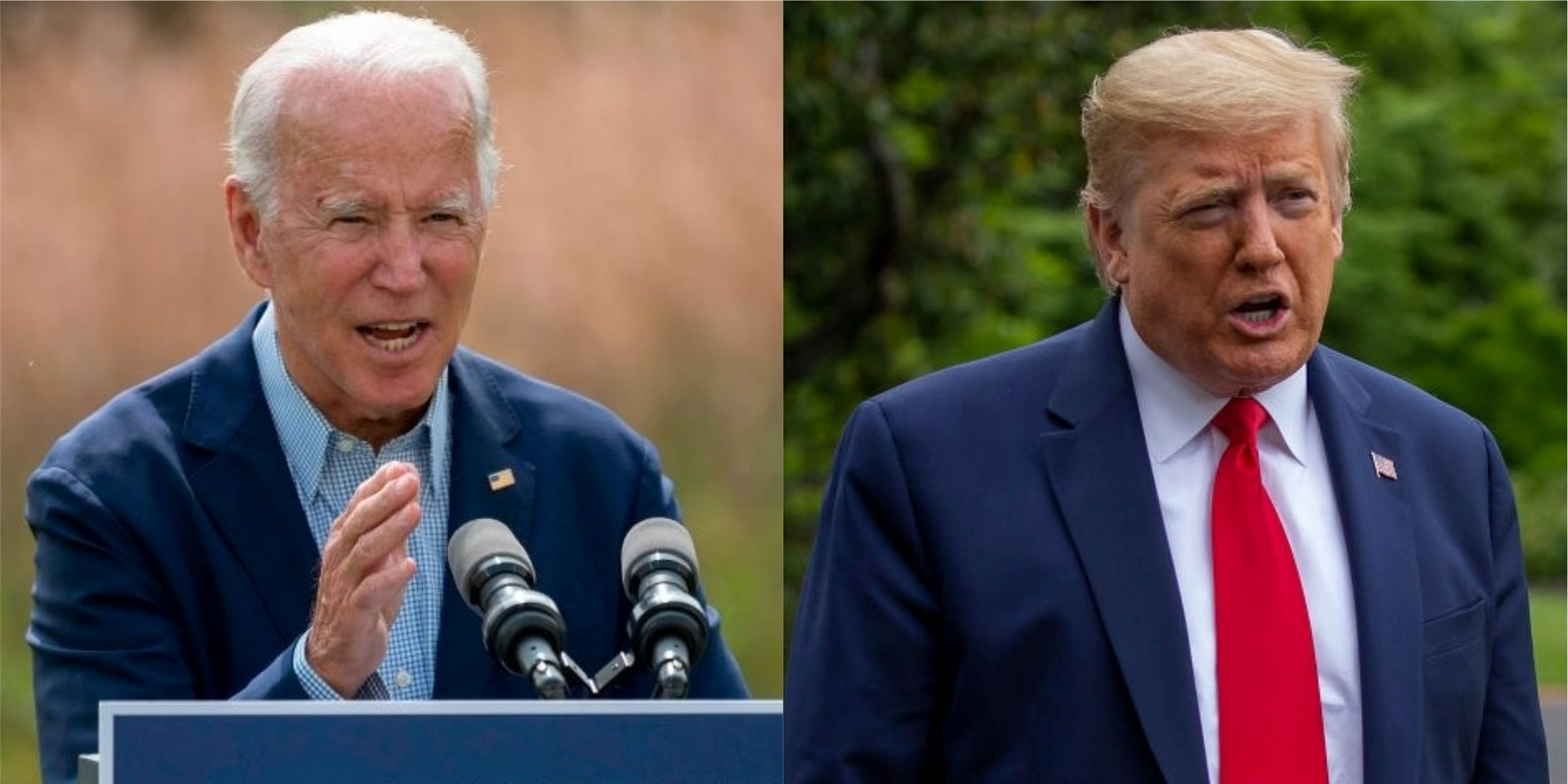The main contenders for the 2020 presidency: Former Vice President Joe Biden and President Donald Trump.