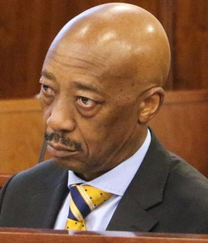 SARS commissioner Tom Moyane in Parliament on Tues