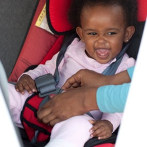 Don't put your baby to sleep in a car seat.