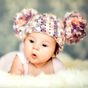Baby in a cute hat