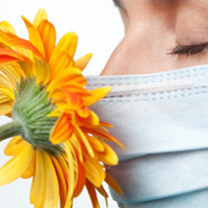 Person at risk of hay fever, a seasonal allergy