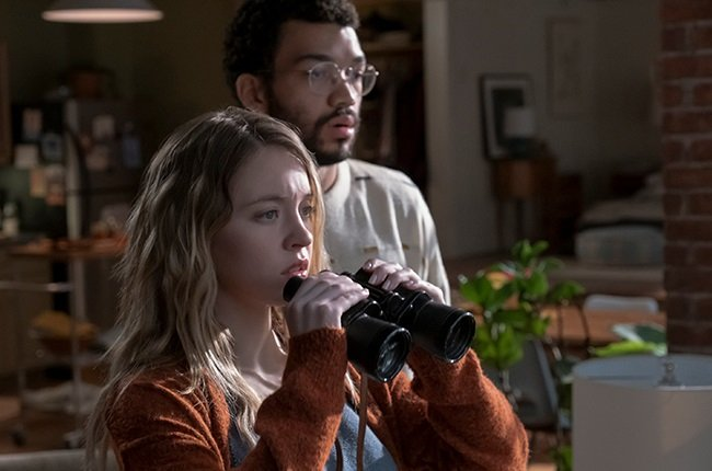 Sydney Sweeney and Justice Smith in The Voyeurs.