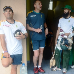 Russell Domingo, Alan Donald and Hashim Amla (Gallo Images)