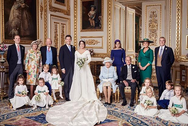 Princess Eugenie and Jack Brooksbank wedding portr