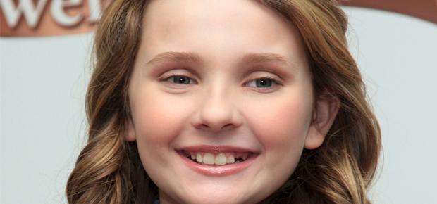 A young Abigial Breslin