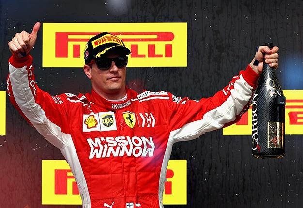 Kimi Raikkonen winner us