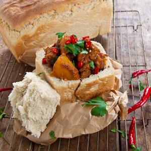 recipes bunny chow steak bread