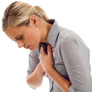 Woman chest pain heart attack