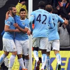Manchester City celebrate (AFP)