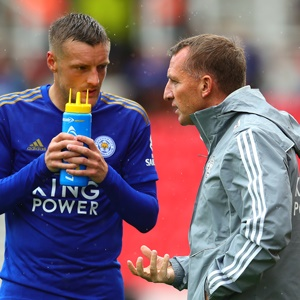 Jamie Vardy and Brendan Rodgers (Getty Images)