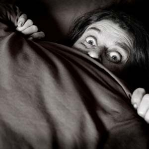 Person fears the worst under covers