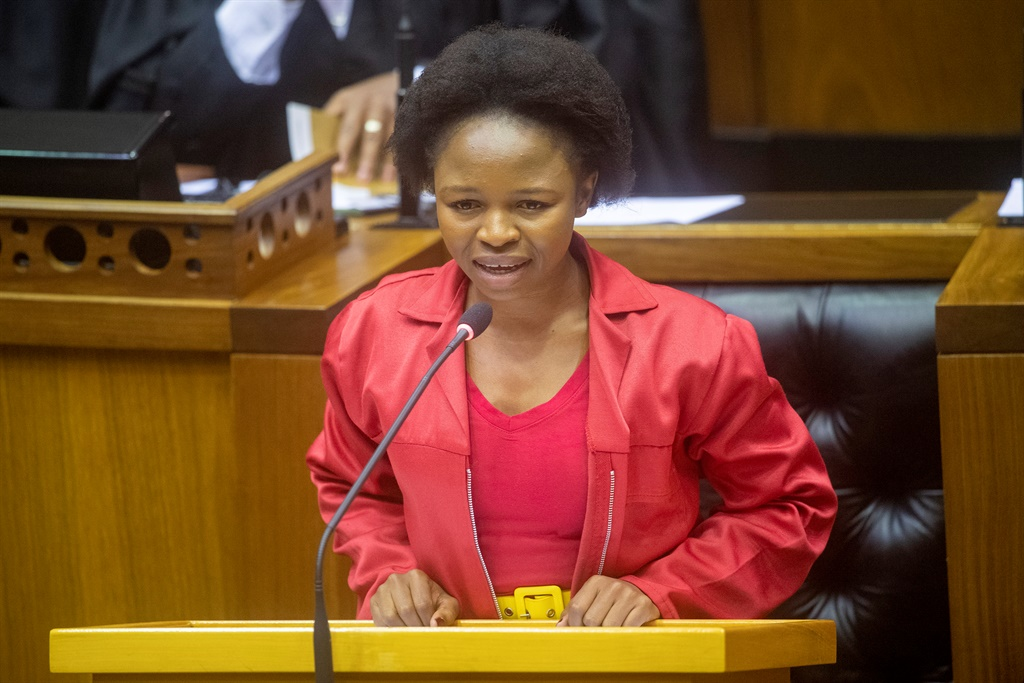 Naledi Chirwa during the State of the Nation Address 2019 debate at the National Assembly. (Photo by Gallo Images/Netwerk24/Jaco Marais)