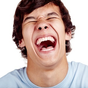 There are people who just can't stop laughing – or crying.