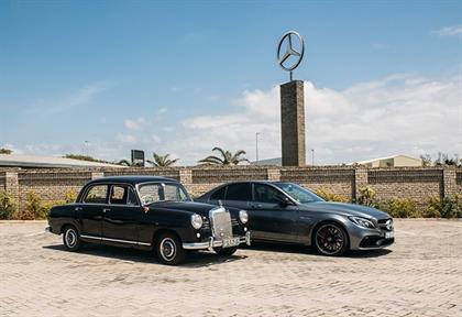 Mercedes-Benz Ponton and AMG C63 S