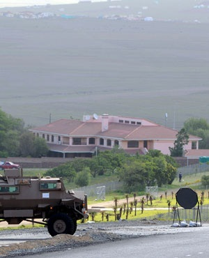 A South African military vehicle is parked near the residence of late South African former president Nelson Mandela in Qunu, outside Mthatha. (File, AFP)