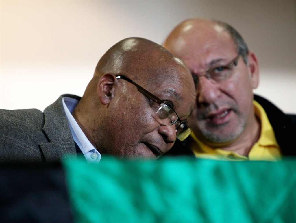 Former president Jacob Zuma with Trevor Manuel during a visit in the suburb of Bishop Lavis on July 23, 2011 in Cape Town, South Africa. (Photo by Gallo Images / Sunday Times / Esa Alexander)