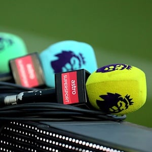 Premier League branded microphones