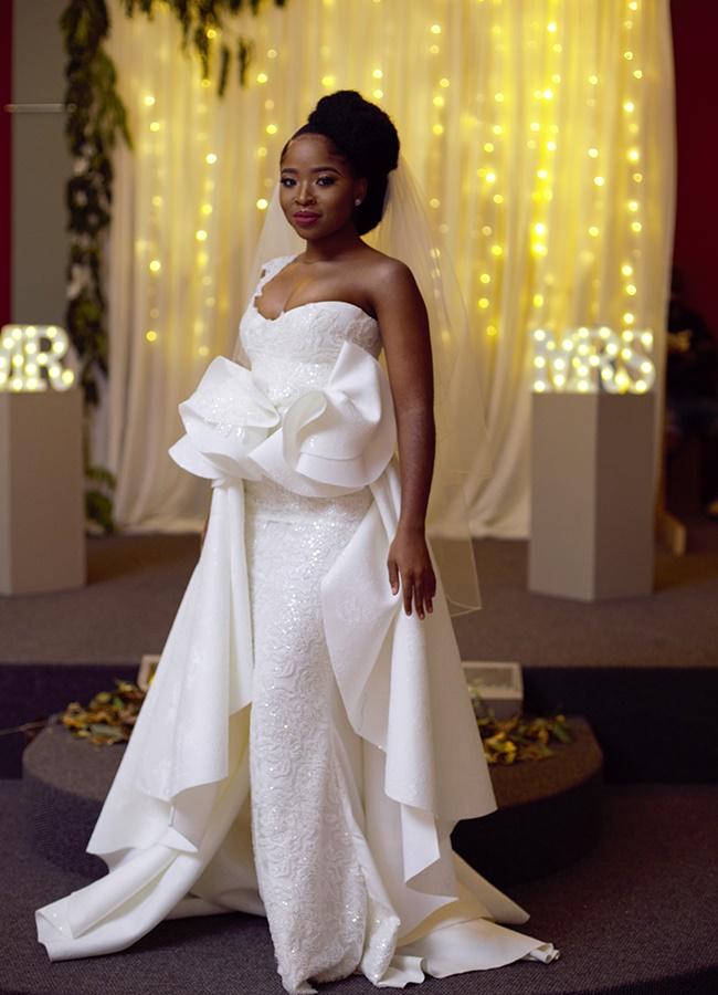 A radiant Nonka, played by Thuthuka Mthembu, blush