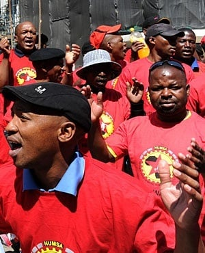 Numsa supporters. (File photo, Sapa)