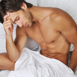 Man thinks about erectile dysfunction diagnosis