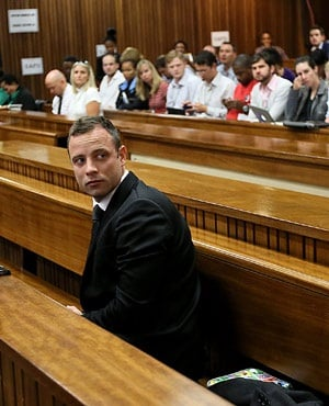 Oscar Pistorius appears in the North Gauteng High Court. (Alon Skuy, Pool)