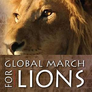 global march for lions, canned hunting, lion cub p