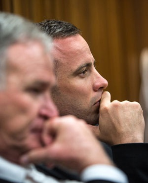 Barry Roux and Oscar Pistorius in court. (Picture: Sapa)