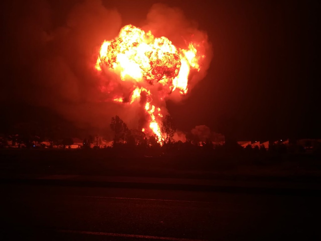 A gas truck has exploded in Worcester.
