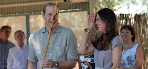 Prince William and Kate visit Uluru. (AFP)