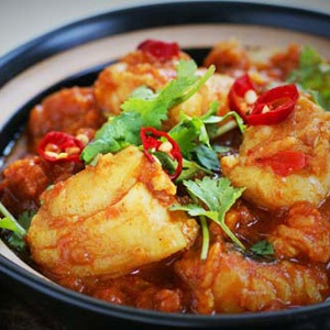recipes, seafood, hake curry,
