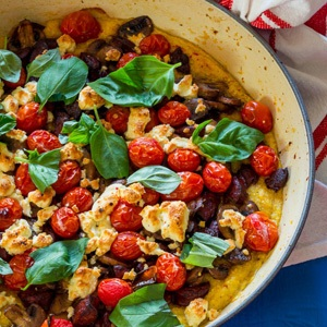 baked polenta, sausage recipes, italian cuisine