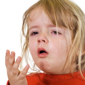 Child with TB coughing