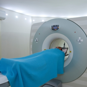 Patient undergoing a scan