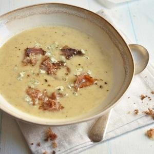 sweet potato and biltong leek soup