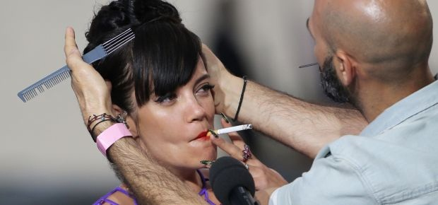 Lily Allen at the Canned Film Festival. (AFP)