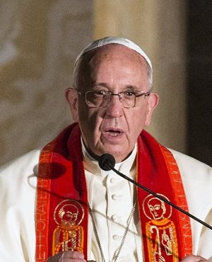 Pope Francis at the Church of All Nations in  Jerusalem.(Jack Guez, Pool)