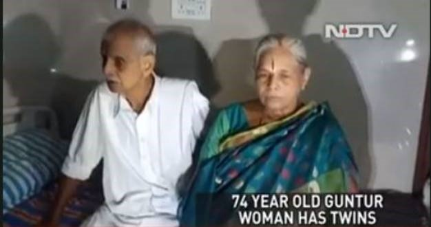 A woman of 74 years old has given birth. (Screen grab, NDTV)