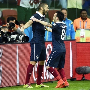 Karim Benzema and Mathieu Valbuena (AFP)