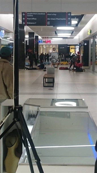 The scene of the shootout at Centurion Mall.