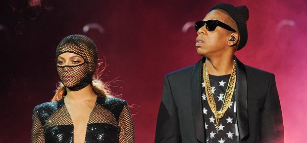 Beyonce and Jay Z perform on the opening night of the On The Run Tour. (AP)
